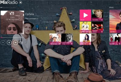 MixRadio on Windows